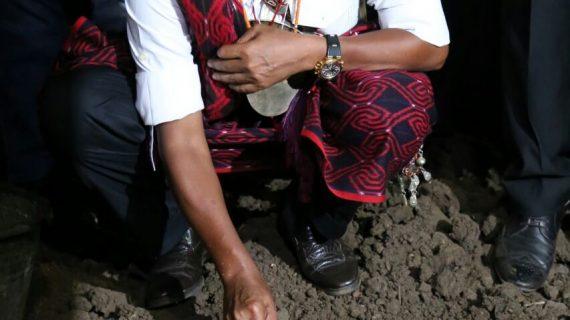 Keserasian Sosial, Mensos Letakkan Batu Pertama Pembangunan Kapela